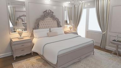2022 Agra Özel Tasarım Oymalı Klasik Yatak Odası - Thumbnail
