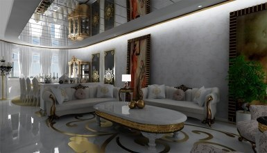 - Altın Varaklı Villa Mobilyaları