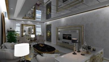 Altın Varaklı Villa Mobilyaları - Thumbnail