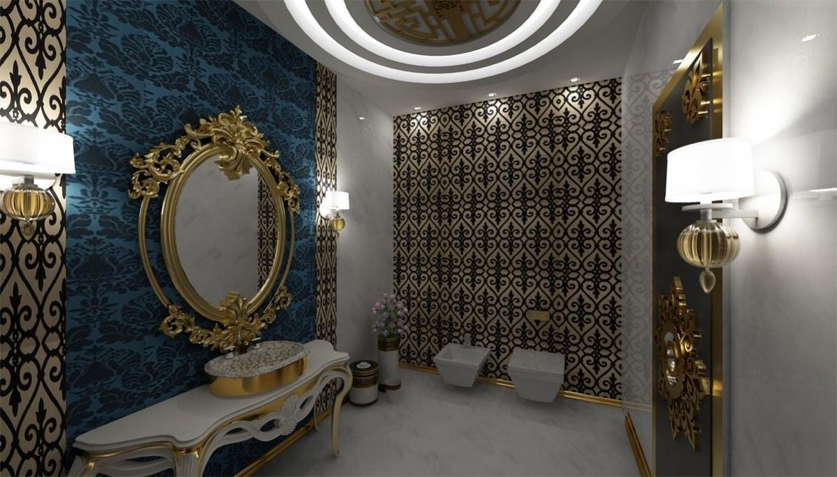 Altın Varaklı Villa Mobilyaları