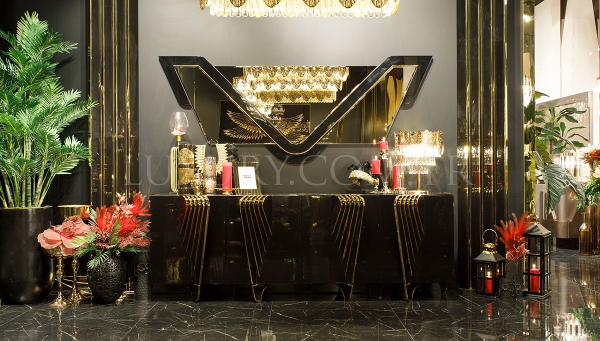 Angelas Luxury Metal Yemek Odası