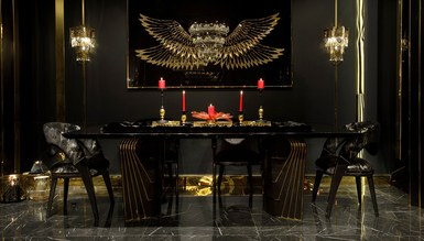 Angelas Luxury Metal Yemek Odası - Thumbnail