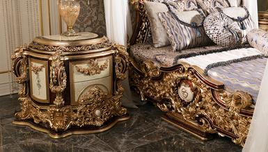 Aspendos Cibinlikli Klasik Yatak Odası - Thumbnail