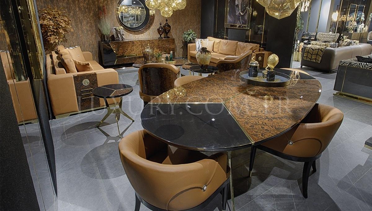 Bella Luxury Metal Yemek Odası