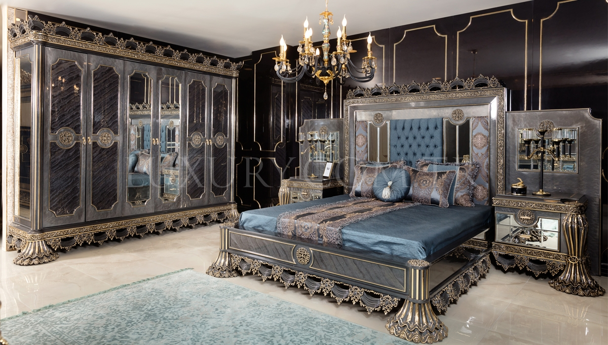 Cape Town Grey Klasik Yatak Odası