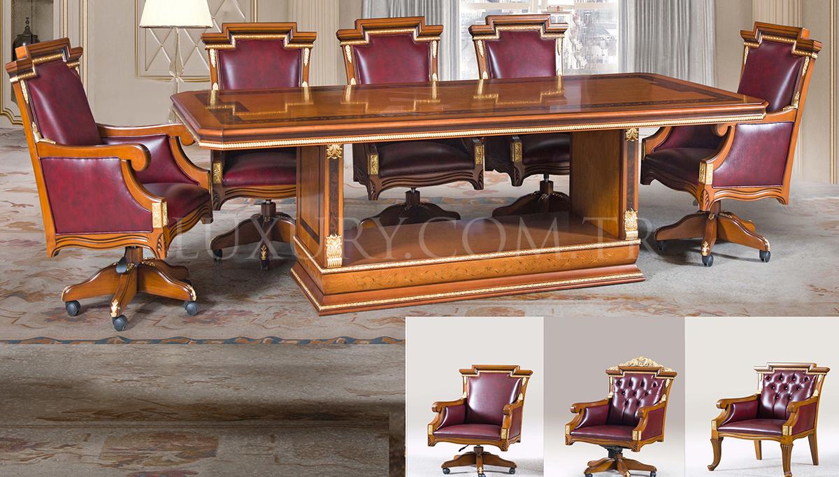 Cevahir Klasik Bronz Toplantı Masası
