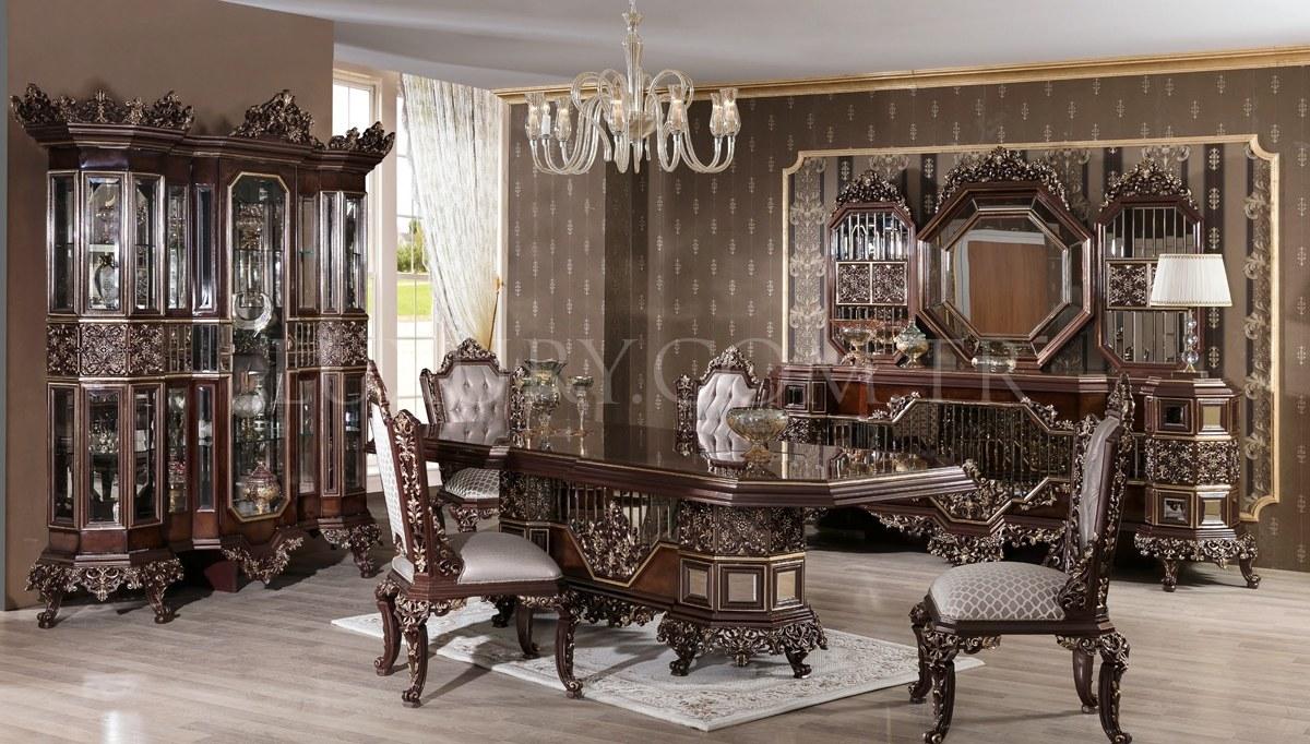 Dacona Siyah Klasik Yemek Odası