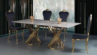 985 - Dalena Gold Metal Yemek Masası
