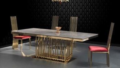 Foreva Gold Metal Yemek Masası