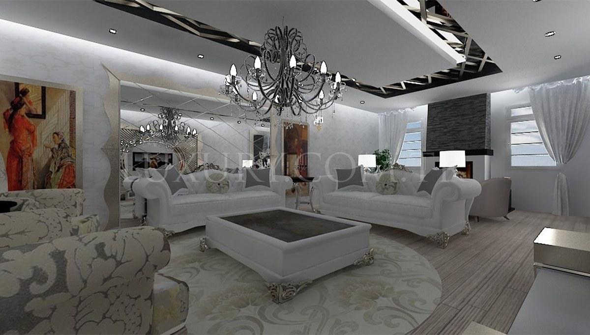 Gümüş İşlemeli Villa Mobilyaları