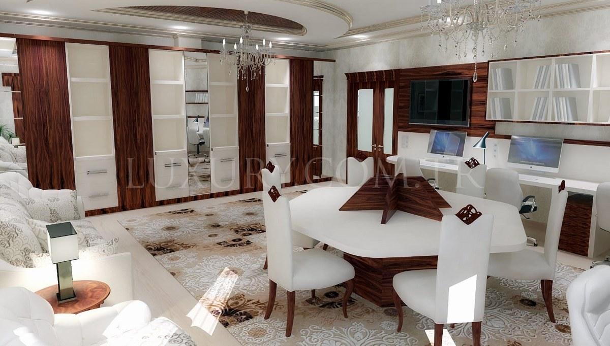 Hunas Çalışma Odası Dekorasyonu