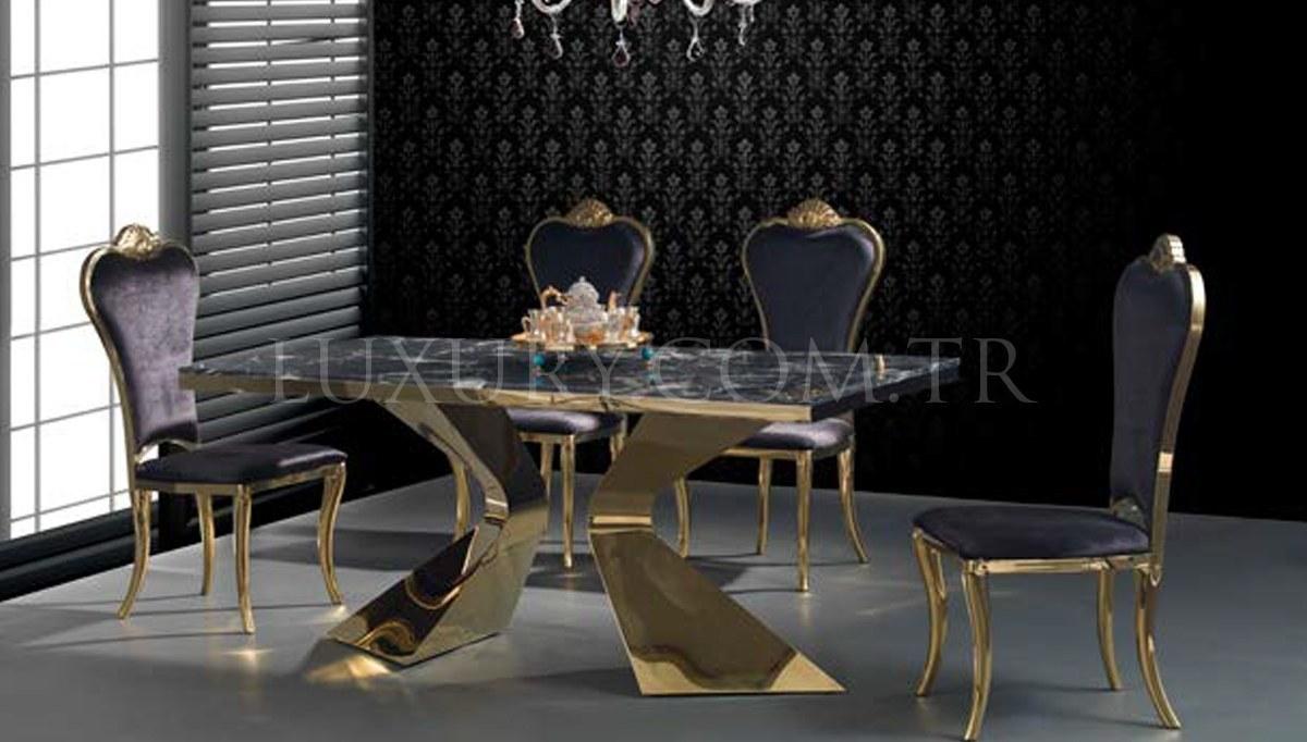 Jagena Gold Metal Yemek Masası