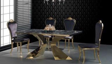 985 - Jagena Gold Metal Yemek Masası