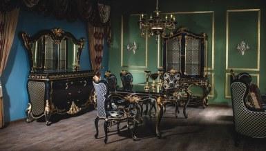 806 - Lerona Siyah Yemek Odası