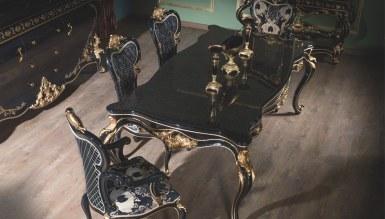 Lerona Siyah Yemek Odası - Thumbnail