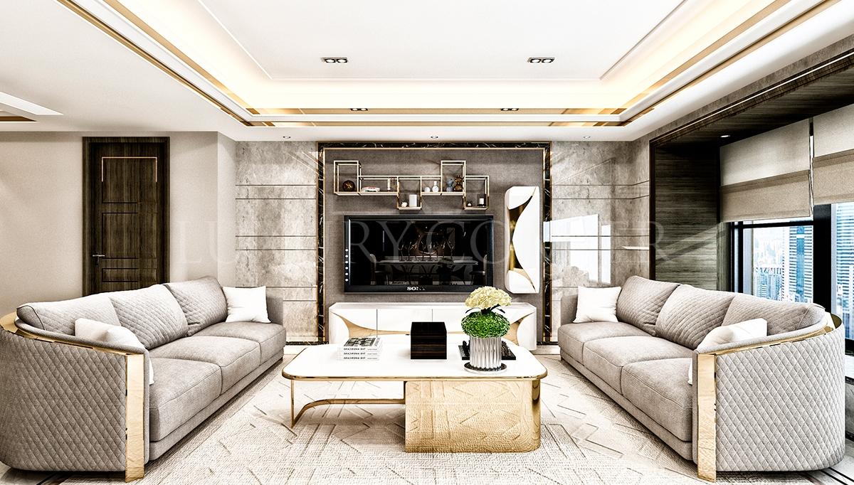 Luitton Luxury Koltuk Takımı