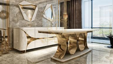 Luitton Luxury Yemek Odası - Thumbnail