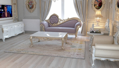 Lüks Abudabi Klasik Gri Yatak Odası - Thumbnail
