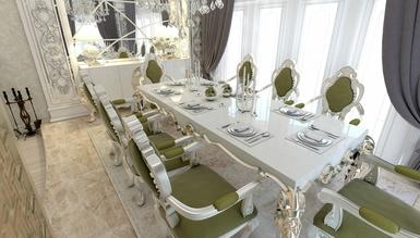 Lüks Abudabi Klasik Yemek Odası - Thumbnail
