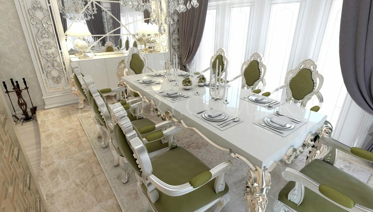 Lüks Abudabi Klasik Yemek Odası
