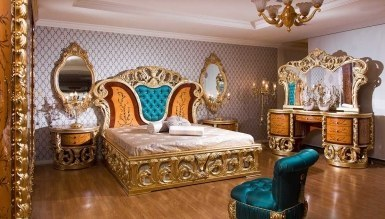 903 - Lüks Alasya Ceviz Klasik Yatak Odası