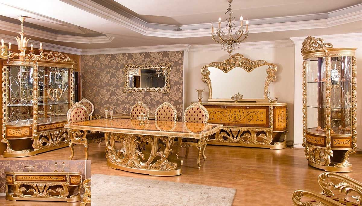 Lüks Alasya Ceviz Klasik Yemek Odası