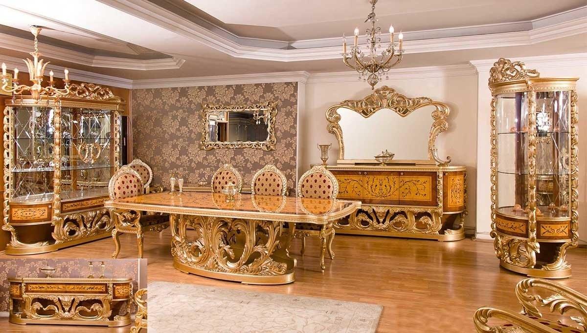 Lüks Alenas Ceviz Klasik Yemek Odası