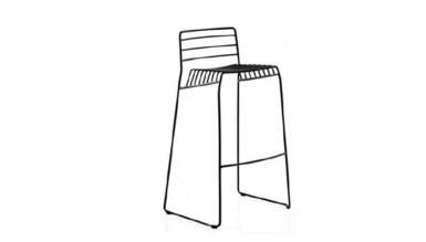 1009 - Lüks Aley Metal Ayaklı Sandalye