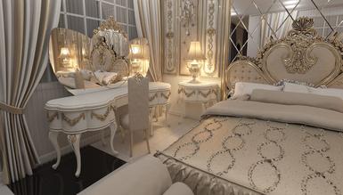 Lüks Almelo Klasik Yatak Odası - Thumbnail