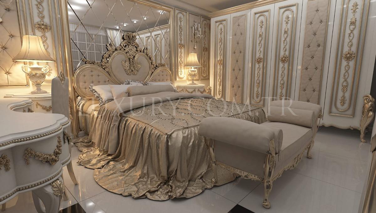 Lüks Almelo Klasik Yatak Odası