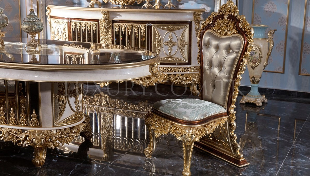 Lüks Altay Klasik Yemek Odası
