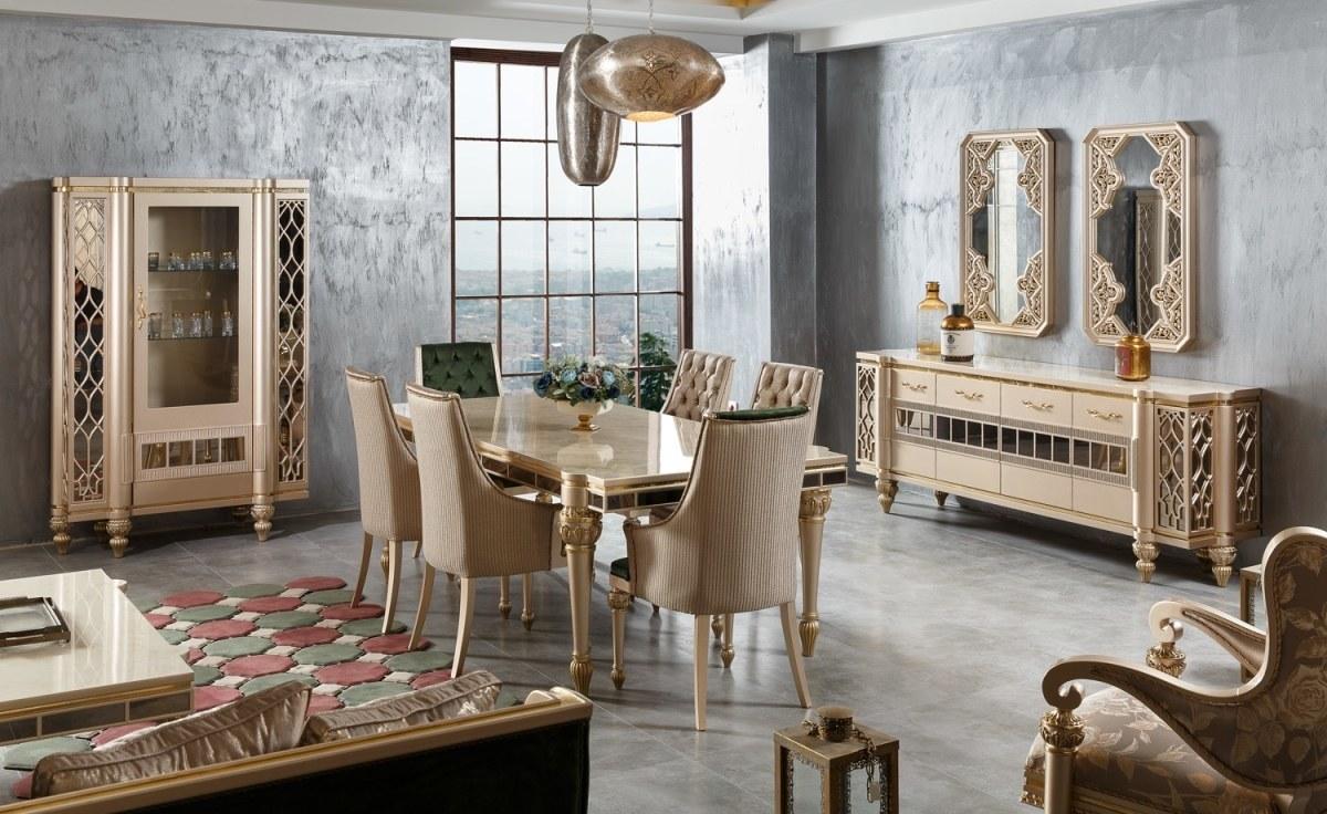 Lüks Andulo Klasik Yemek Odası