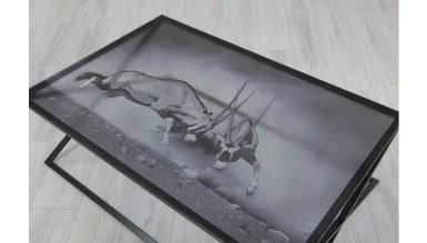 Lüks Aniyans Metal Orta Sehpa - Thumbnail