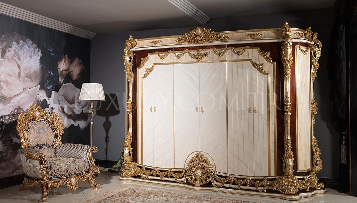 Lüks Aspendos Cibinlikli Klasik Yatak Odası