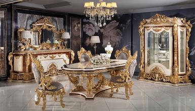 Lüks Aspendos Klasik Yemek Odası - Thumbnail