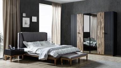 178 - Lüks Ayasofya Siyah Ceviz Yatak Odası