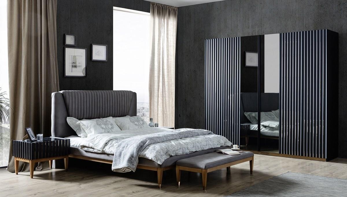 Lüks Ayasofya Siyah Yatak Odası