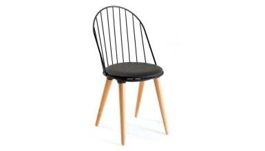920 - Lüks Batak Ahşap Ayaklı Sandalye