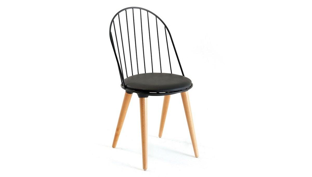 Lüks Batak Ahşap Ayaklı Sandalye