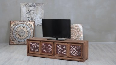 Lüks Benvor Aynalı TV Ünitesi - Thumbnail