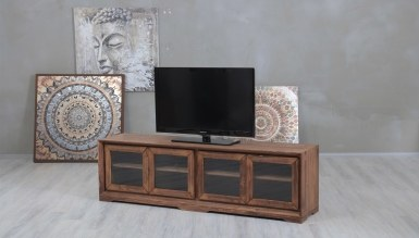 948 - Lüks Benvor Camlı TV Ünitesi