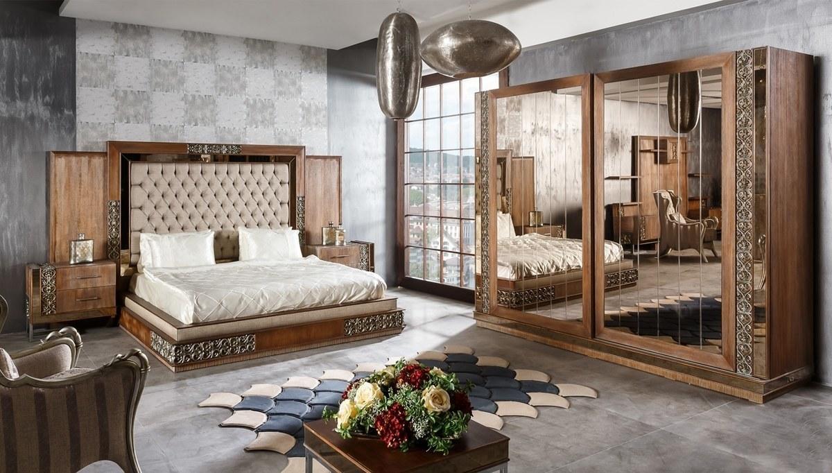 Lüks Berane Klasik Yatak Odası