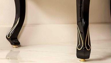 Lüks Bergora Siyah Klasik Banyo Takımı - Thumbnail
