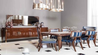 Lüks Bernardo Art Deco Yemek Odası