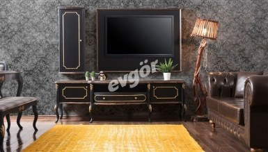 921 - Lüks Beyoğlu Siyah TV Ünitesi
