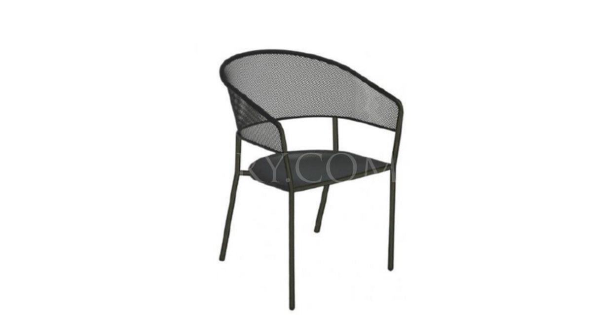 Lüks Borak Metal Ayaklı Sandalye