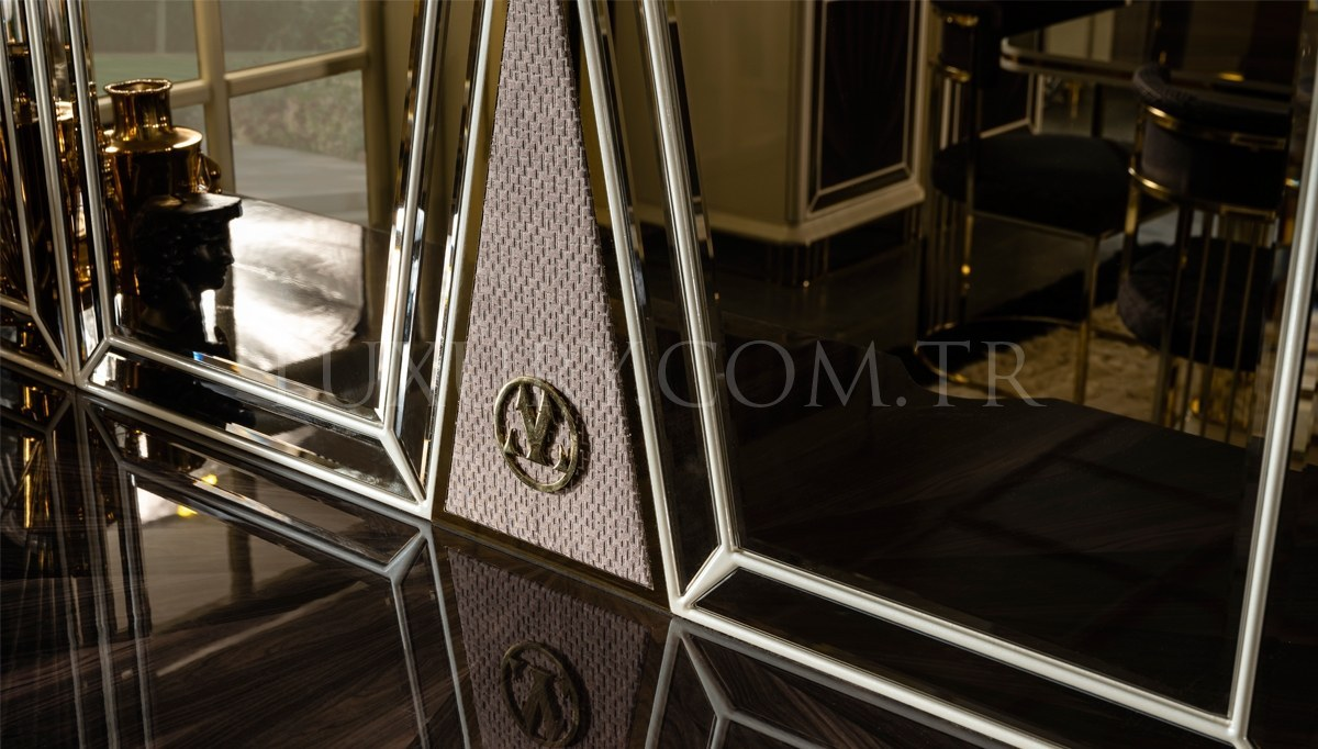 Lüks Bugatti Metal Yemek Odası