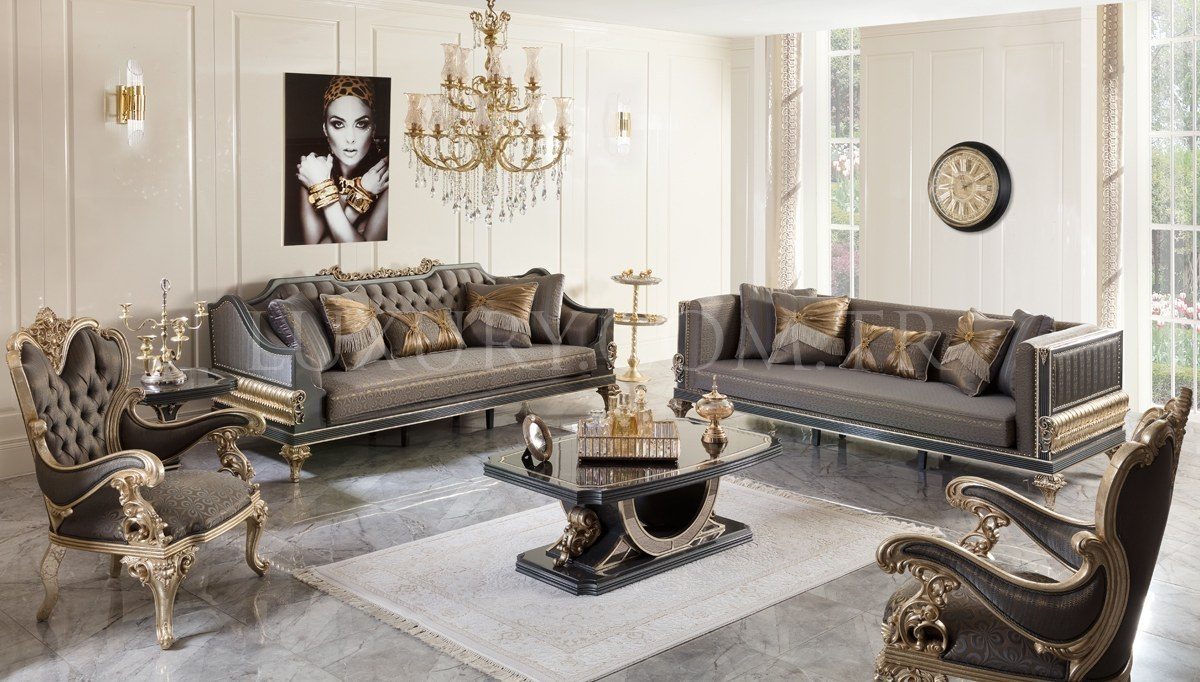 Lüks Calenas Art Deco Koltuk Takımı