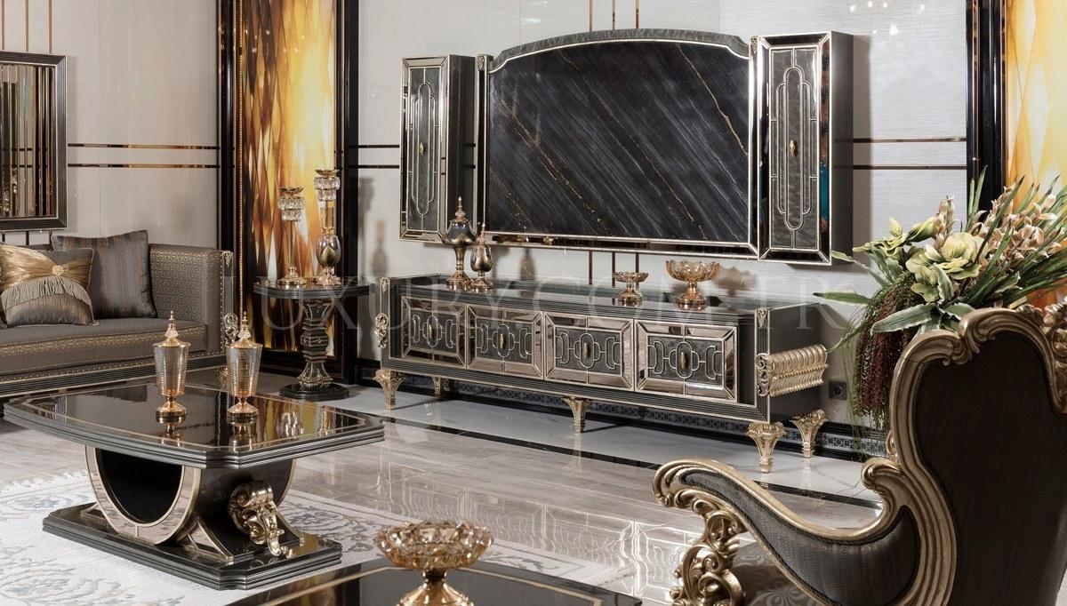 Lüks Calenas Art Deco TV Ünitesi