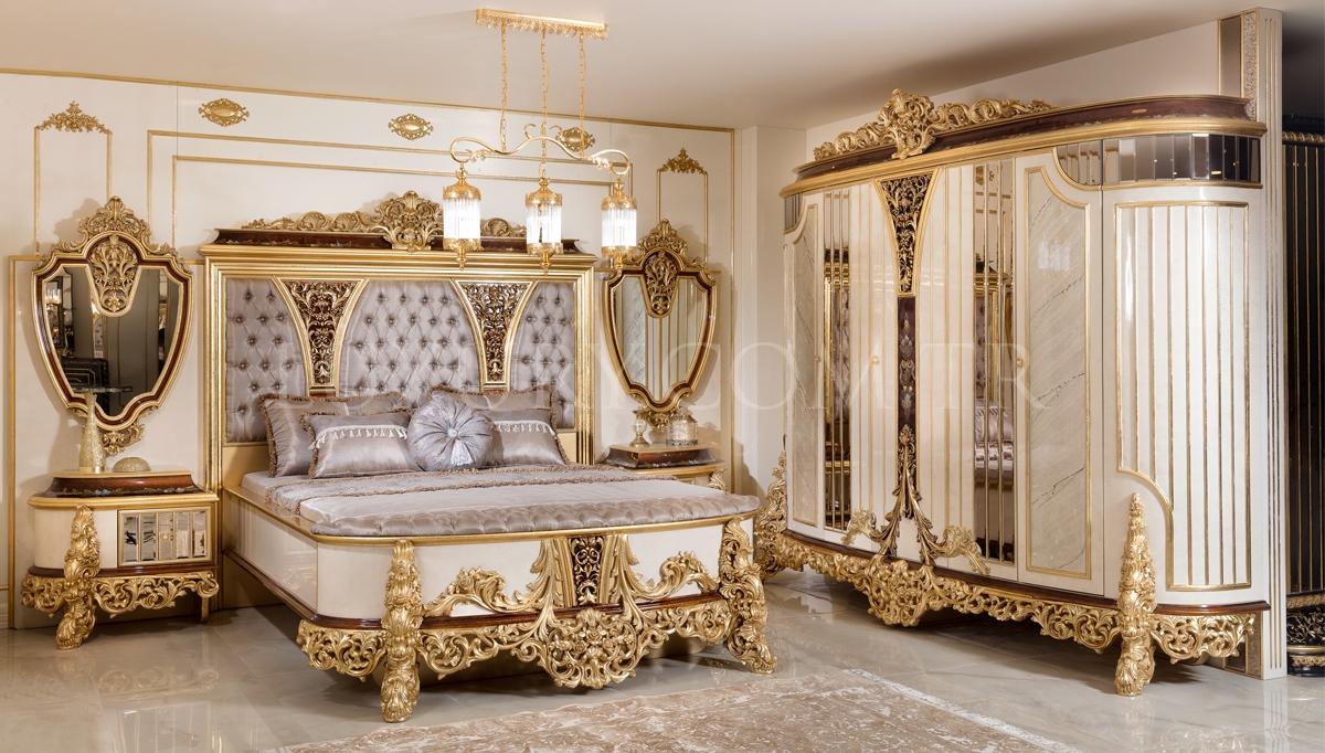 Lüks Cenova Klasik Yatak Odası